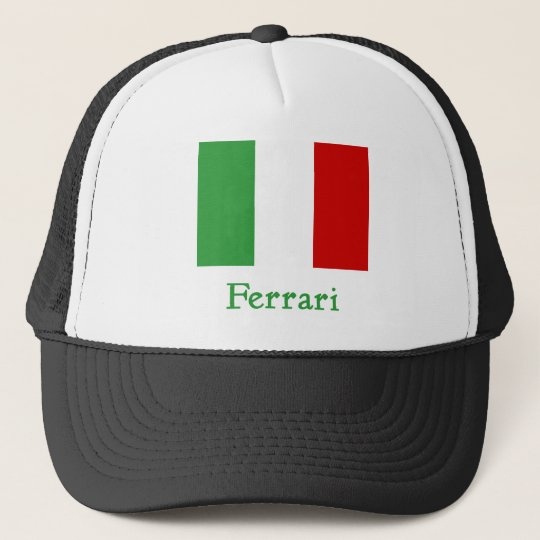 Ferrari Italian Flag Trucker Hat