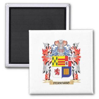 Ferrario Coat of Arms - Family Crest 2 Inch Square Magnet