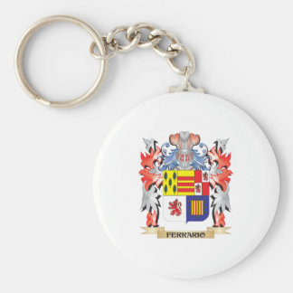 Ferrario Coat of Arms - Family Crest Keychain