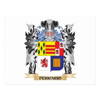 Ferrario Coat of Arms - Family Crest Postcard