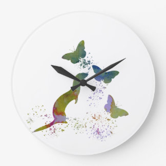 Ferret and butterflies large clock