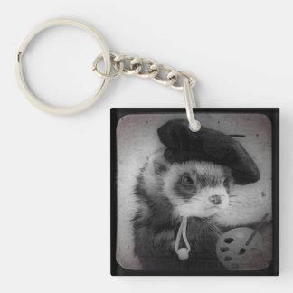 Ferret as Artist Acrylic Keychain