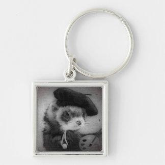 Ferret as Artist Keychains