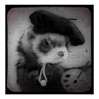 Ferret as Artist Poster