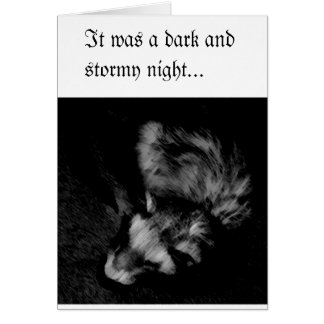 Ferret Black and White Greeting Card
