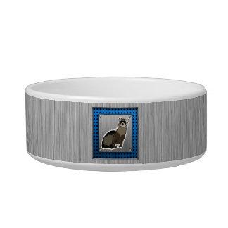 Ferret; Brushed metal look Pet Water Bowl