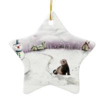 Ferret Christmas ornament