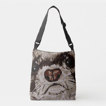 Beach Themed Ferret - cross body bag