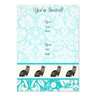 Ferret; Cute 5x7 Paper Invitation Card