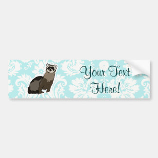 Ferret; Cute Car Bumper Sticker