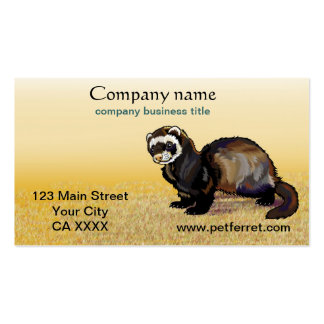 ferret Double-Sided standard business cards (Pack of 100)