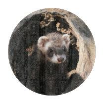 Ferret Face Cutting Board