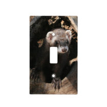 Ferret Face Light Switch Cover