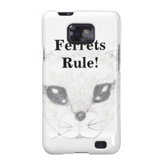 Ferret Face Picture Drawn in Pencil Galaxy S2 Covers