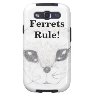 Ferret Face Picture Drawn in Pencil Samsung Galaxy SIII Covers