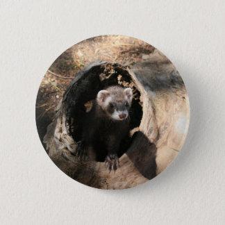 Ferret Face Pinback Button