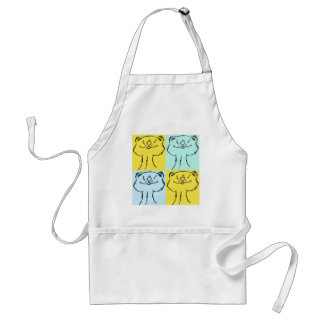 Ferret Faces Sayings and Quotes Adult Apron