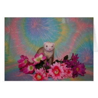 Ferret - Flowers Card