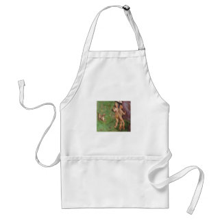 Ferret frolicking with angels adult apron