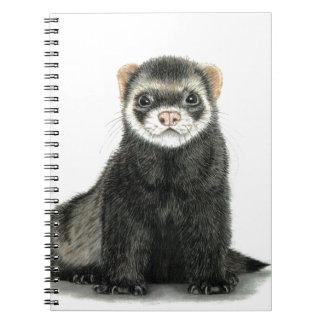 Ferret fun! spiral notebook