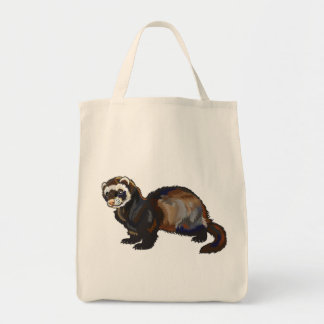 ferret grocery tote bag