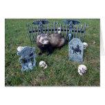 Ferret Halloween Card