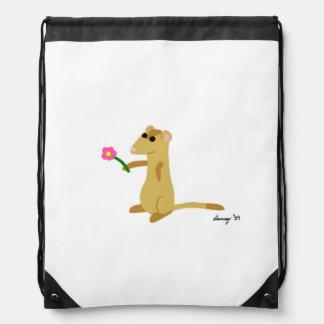 Ferret Holding A Flower Backpack