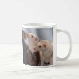 Ferret Kisses Coffee Mugs