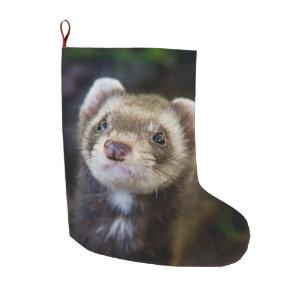 Christmas Ferret.Ferret Large Christmas Stocking
