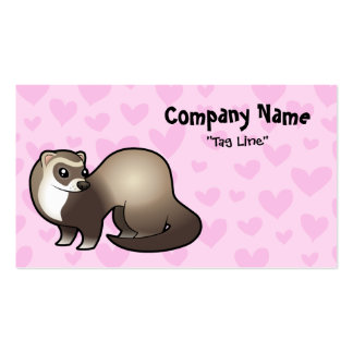 Ferret Love Double-Sided Standard Business Cards (Pack Of 100)