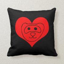 Ferret lover throw pillow