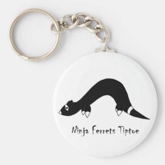 Ferret Ninja Basic Round Button Keychain