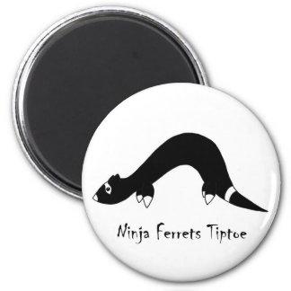 Ferret Ninja Refrigerator Magnet