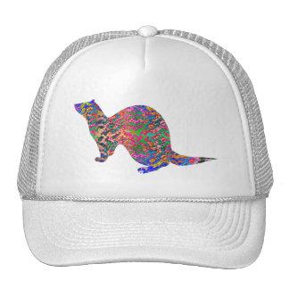 Ferret of the rainbow color trucker hat