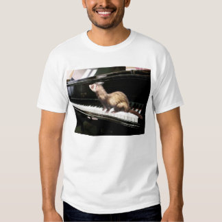 Ferret on Piano T-shirt