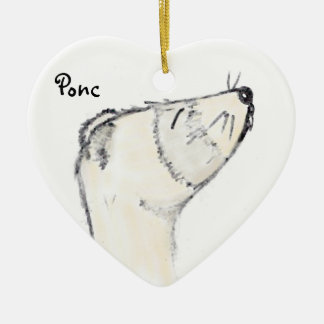 Ferret Picture Ceramic Ornament
