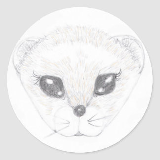 Ferret Picture Classic Round Sticker