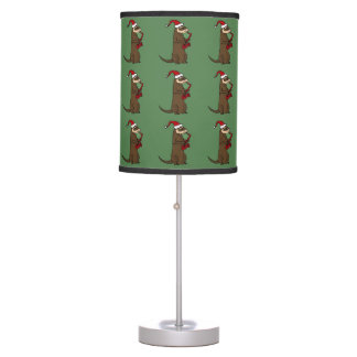 Ferret Playing Saxophone Christmas Art Desk Lamp