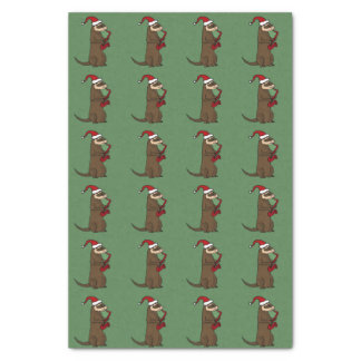 Ferret Playing Saxophone Christmas Tissue Paper