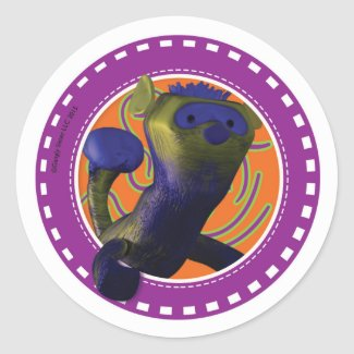 Ferret: Purple and Nine Sticker