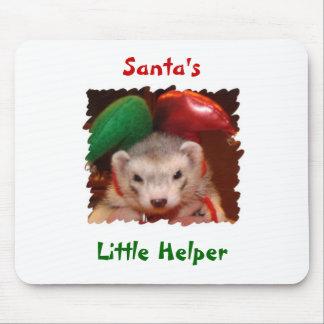 Ferret Santas Little Helper Mouse Pad