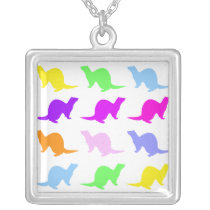 ferret silver plated necklace