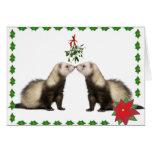 Ferret Smooches Holiday Card