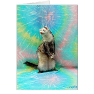 Ferret standing up card