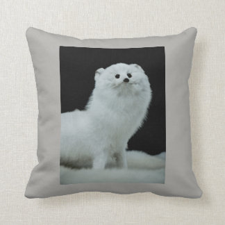 Ferret Taxidermy Mount & Anti-Fur Trade Quote Throw Pillow