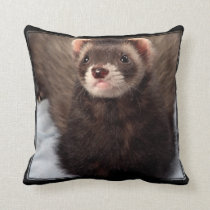 Ferret Throw Pillow Home Decor