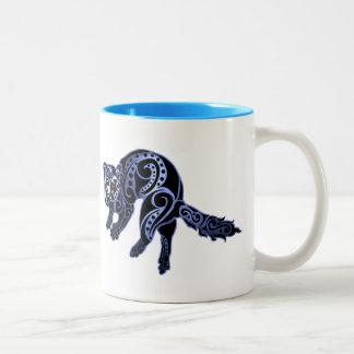 Ferret Trybe: War Dance! Two-Tone Coffee Mug