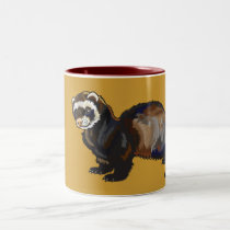 ferret Two-Tone coffee mug