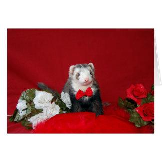 Ferret - Valentine - Annv. - Engagement Card