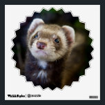 """Ferret Wall Sticker<br><div class=""""desc"""">A picture of a ferret outdoors with blurry nature background.</div>"""